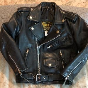 FIRST GOODLEATHER MFG sz 6 Classic Moto Jacket EUC
